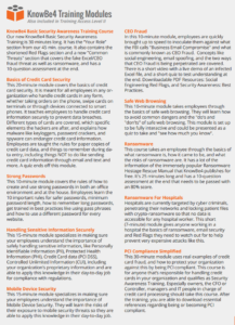Description of Training Courses Available (Page 1)